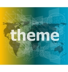 theme word backgrounds touch screen with vector image