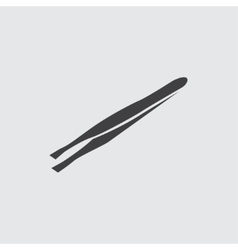 Tweezers icon vector
