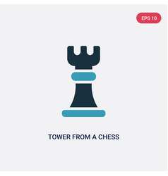 two color tower from a chess set icon from sports vector image