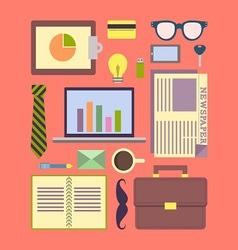 Urban executive item flat d vector image