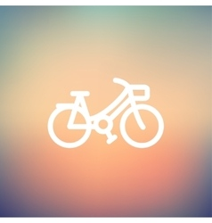 Vintage bicycle thin line icon vector