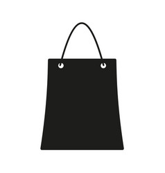 bag sign black icon on white vector image vector image