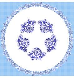 blue cloth round vector image