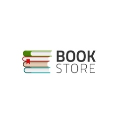 Bookstore logo symbol isolated on white vector image