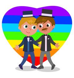 gay couple marriage vector image