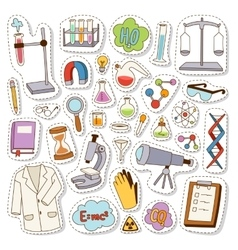 Laboratory icons set vector image vector image