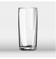 realistic long drinking glass isolated on vector image vector image