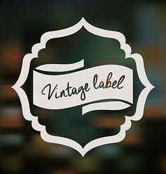 Retro and Vintage label vector image vector image