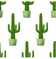 cactus - floral seamless pattern vector image