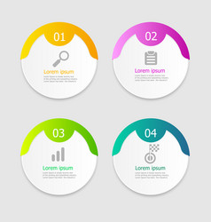 circle infographic elements layout 4 steps vector image