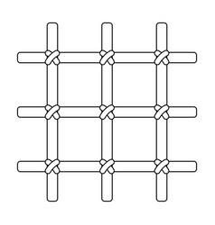 lattice in the cell of the prisoner a metal door vector image