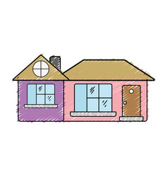 big house with roof and windows with door vector image vector image