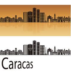caracas v2 skyline vector image