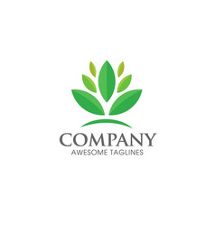 green leaf ecology logo concept vector image