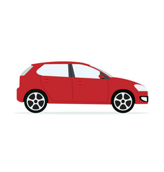 red modern car with isolated white vector image vector image
