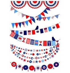 Set American decorations vector image