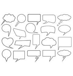 Set of different speech bubbles vector image vector image