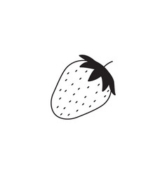 strawberry line icon healthy fruit vector image