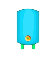Boiler water heater icon cartoon style vector image