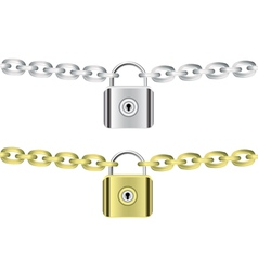 chains and locks vector image vector image