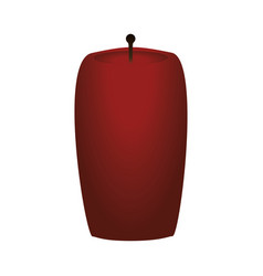 decorative candle isolated vector image