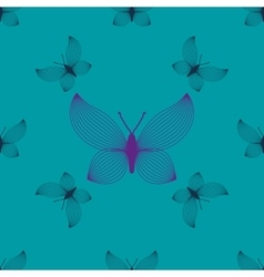 Purple and blue butterflies seamless pattern vector image vector image