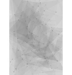 Abstract tech grey polygonal design vector image