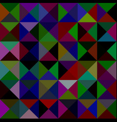 Abstract triangle mosaic pattern background vector