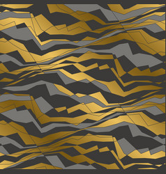 angled lines and waves seamless pattern vector image