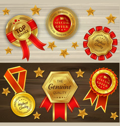 awards realistic horizontal banners vector image