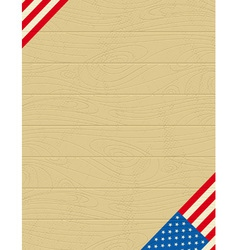 background with usa banner vector image