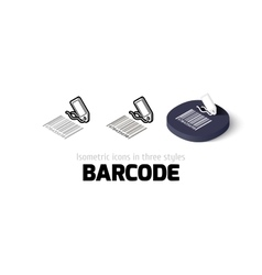 Barcode icon in different style vector image