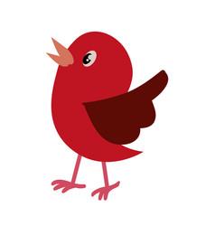 Bird cute cartoon vector