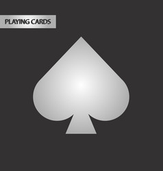 Black and white style game spades vector