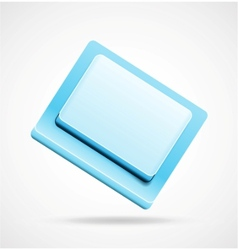 blue 3d keyboard button vector image