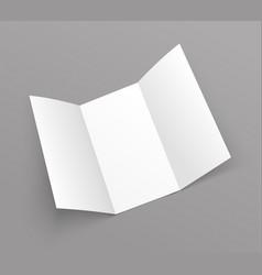 brochure trifold blank leaflet mockup fold flyer vector image