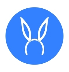Bunny headband icon in black style isolated on vector image vector image