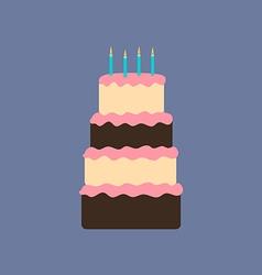Cake dessert icon vector