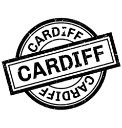 Cardiff rubber stamp vector