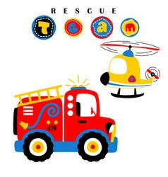 Cartoon of rescue team vector