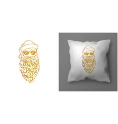 Christmas pillowcase design with of vector