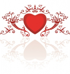 Classy heart vector