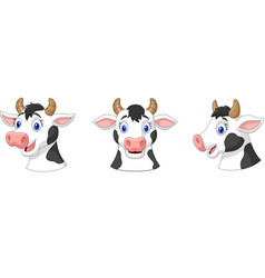 collection head cow vector image