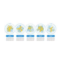 Common genetic diseases infographic template vector