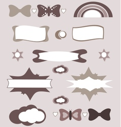 Cute design elements set vector image