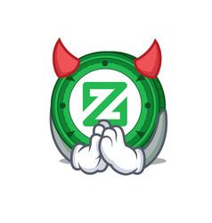 Devil zcoin mascot cartoon style vector