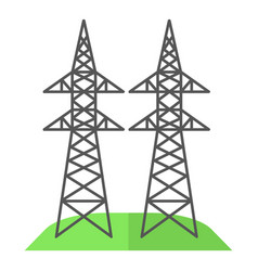 Electricity pole icon flat style vector
