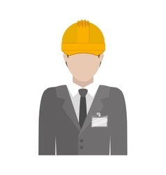 Engineer with formal suit and helmet vector