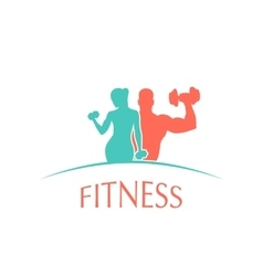 fitness club icon vector image