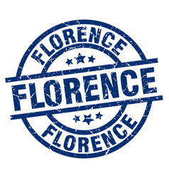 Florence blue round grunge stamp vector